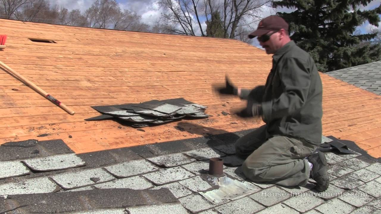 Removing Roof Shingles!