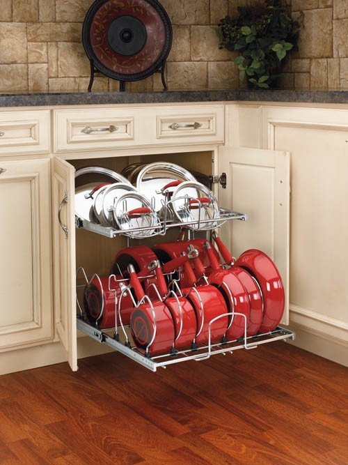 Pot cabinet rack