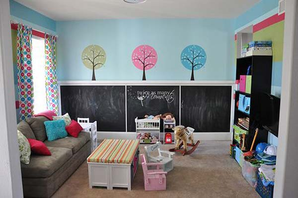 Kids room chalkboard