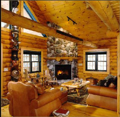 log-home interior