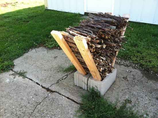 cheap firewood storage