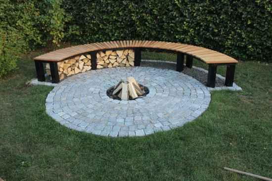 firewood-storage bench