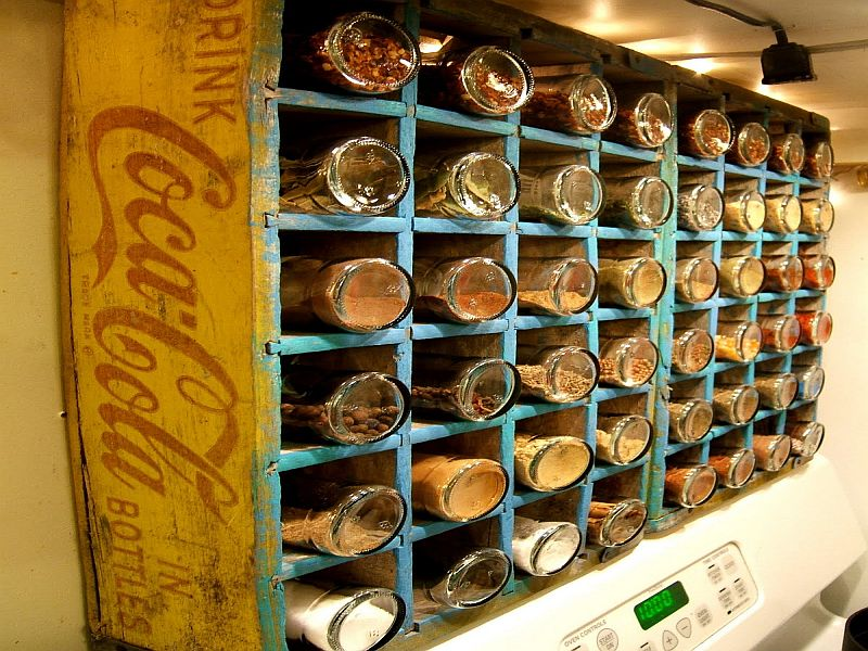 Coke bottle spice rack project-2