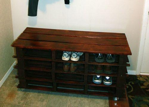 Awesome DIY Shoe Rack Bench