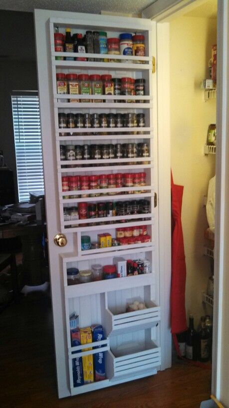 spice rack pantry door
