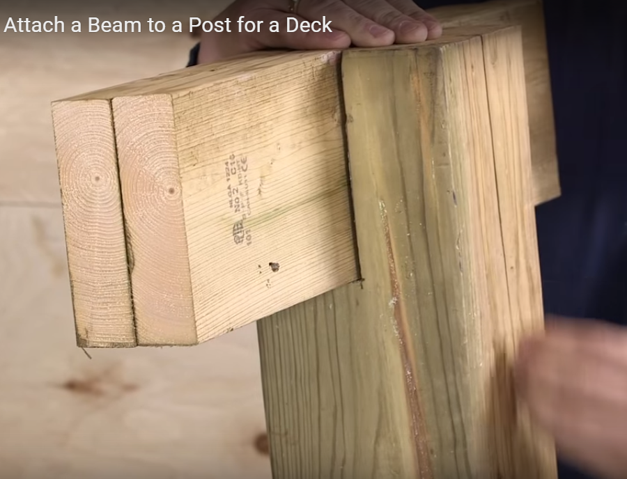 Proper Deck Beam Attachment